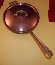 "Vintage All-Clad Cop R Chef, 10 1/2"" Frying Pan w/Original Lid (Rare)"