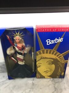 Statue Of Liberty Barbie Doll Fao Schwartz 1995 #14664 Limited Edition Doll