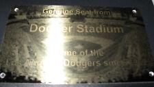 LOS ANGELES DODGERS   Stadium seat PLAQUE HOME OF DODGERS