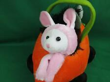 PINK BUNNY RABBIT EARS COSTUME ORANGE CARROT RACECAR EASTER BASKET PLUSH CAR