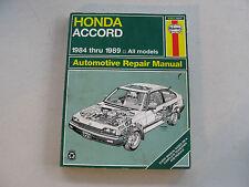 HAYNES #42011(1221) Automotive Repair Manual Book For HONDA ACCORD 1984-1989