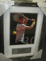 GRIGOR DIMITROV HAND SIGNED 8X10 TENNIS PHOTO FRAMED + PHOTO PROOF &  C.O.A