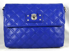 Marc Jacobs The Large Single Shoulder Quilted Leather Blue Bag Purse