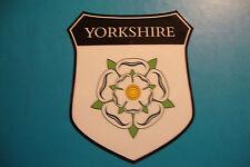 2x YORKSHIRE COUNTY  SHIELDS UK CAR WINDOW BUMPER  STICKERS WHITE ROSE