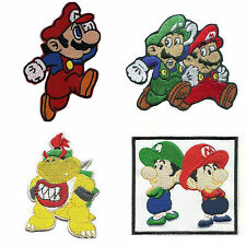 4pcs lot Super Mario Brothers Luigi and Mario Bowser Embroidered Iron on Patches