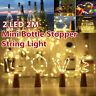 Mini Bottle Stopper String Lamp Bar Decoration String Light 2M 20 LED Warm White