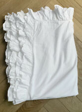 Pottery Barn White Frill Large Single Duvet Cover - 218x172cm - Immaculate Cond.