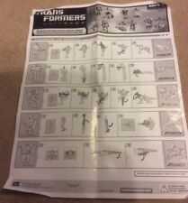 Transformers universe instructions for Changing Vehicle
