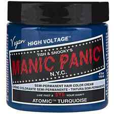 Manic Panic Semi-Permament Hair Color Creme, Atomic Turquoise 4 oz (Pack of 2)