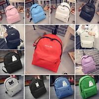 Women Girl Canvas Shoulder School Bag Backpack Campus Rucksack Book Mini Handbag