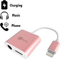 Lightning Splitter iPhone 7's - 3.5mm Audio Headphone Jack, CHARGE + Phone CALLS