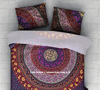 Violet Couleur Oreiller Taie Mandala Indien Coussin Housse 45.7X71.1cm Pouce