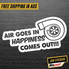 AIR GOES IN TURBO JDM CAR STICKER DECAL Drift Turbo Euro Fast Vinyl #0538