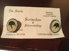 Smith of gatlingburg Tn Scrimshaw Cufflings by Peggy