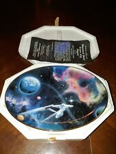 "Hamilton Collection Star Trek Collector Plate ""Second Star From The Right"" W/Coa"