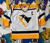 1995 Mario Lemieux Pittsburgh Penguins Starter Jersey Size Youth XL - Mens S