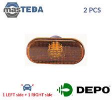 2x DEPO LATERAL INSTALLATION INDICATOR LIGHT BLINKER LAMP PAIR 551-1403N-UE I