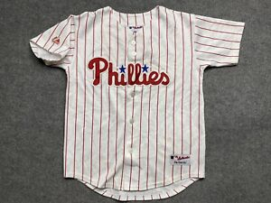 Vintage Philadelphia Phillies Baseball Jersey Boys Medium MLB Sewn Youth