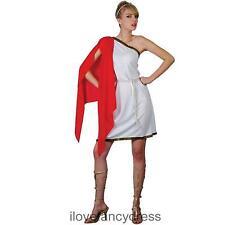 LADIES ROMAN TEMPTRESS GREEK GODDESS TOGA FANCY DRESS COSTUME