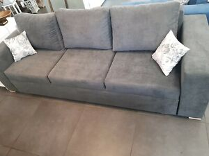 Sofa Bed Charcoal Grey with Storage Container Sleeping Function New Modern
