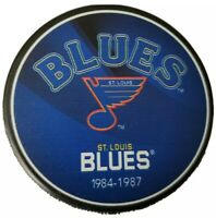 1984-1987 ST. LOUIS BLUES EXCLUSIVE ARENA COLLECTION NHL OFFICIAL HOCKEY PUCK