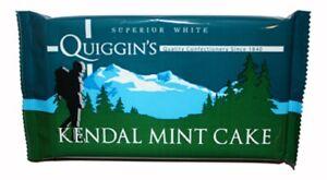 Kendal Mint Cake 2 x 170g Bars Quiggins  White Kendal Mintcake