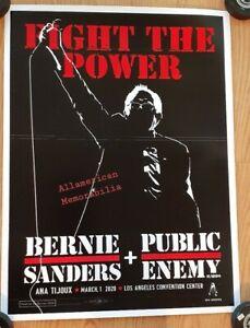 Bernie Sanders Public Enemy Fight The Power LA Rally Concert Poster Kii Arens