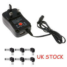 New Universal Mains AC/DC Power Adapter Supply Plug Charger 3/4.5/5/6/9/12v
