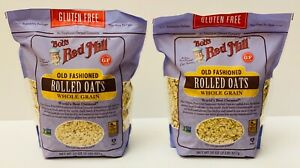2 BOB'S RED MILL GLUTEN FREE OLD FASHIONED ROLLED OATS WHOLE GRAIN 32oz FRESH