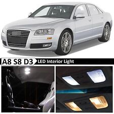 22x White Interior LED Lights Package Kit for 2003-2009 Audi A8 S8 D3 Error Free