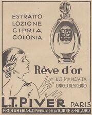 V0599 Reve d'Or - L.T. Piver Paris - Pubblicità d'epoca - 1931 old advertising
