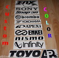 11 car sponsor sticker JDM Decal set/pack Fox Snapon Enkei Toyo Nismo Racing