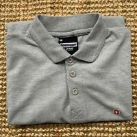 Men's ** Eisenegger ** Grey Short Sleeve Polo shirt Size L Large IMMACULATE