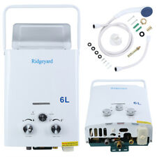 6L 1.6GPM LPG Gas Tankless Outdoor Camping Hiking Hot Water Heater Portable CE