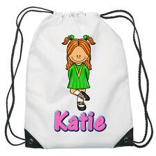 Irish Dancing Drawstring  PE Bag For Girls Personalised swimming shoes Gym