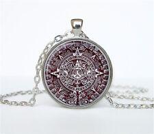 Aztec Calendar necklace Sun Stone pendant Aztec Calendar jewelry the necklace