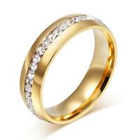 Damenring Verlobung Zirkonia 999 Gold 24 Karat vergoldet gelbgold R2357-3