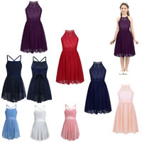 Girls Princess Dresses Formal Gown Kids Lace Wedding Holidays Pageant Costumes