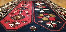 "Exquisite Vintage 1950-1960s Vegy Dye Wool Pile Tribal Area Rug 4'4""×6'7"""