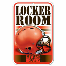 "CLEVELAND BROWNS PLASTIC LOCKER ROOM SIGN 11""x17"" - NFL FOOTBALL - FREE SHIPPING"