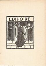 ADOLFO DE CAROLIS - XILOGRAFIA - VIGNETTA - MINIATURA - 1926 - rif 42