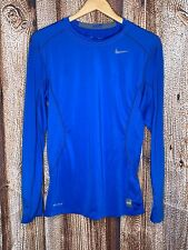 Nike Pro Combat Men's Blue Fitted S/S Tee Shirt Size S Small