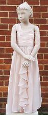 BHS JR Girls One Shoulder Jewel Prom Evening Long Dress Pastel Pink 11 - 12 Yrs