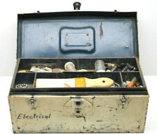Neat Americana Union Electrician Electrical Parts Tool Box 1950s As Found NYS