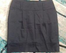 ladies papaya size 12 black lined work skirt