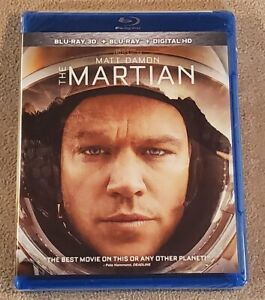 The Martian 3D (Blu-ray 3D + Blu-ray) BRAND NEW & SEALED! - Flat Ship for 2+ 3D