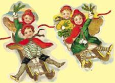 Antique Style Sledging Children Christmas decoration