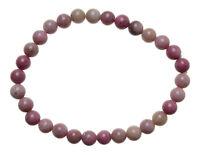 RHODONIT Edelstein-Armband / RHODONITE Bracelet D102