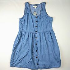Forever 21+ Plus Size Denim Buttoned Chambray Babydoll Dress Women's XL NWT