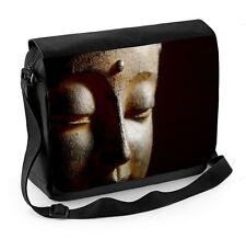 Bouddha tête close up laptop messenger bag-bouddhiste bouddhisme méditation